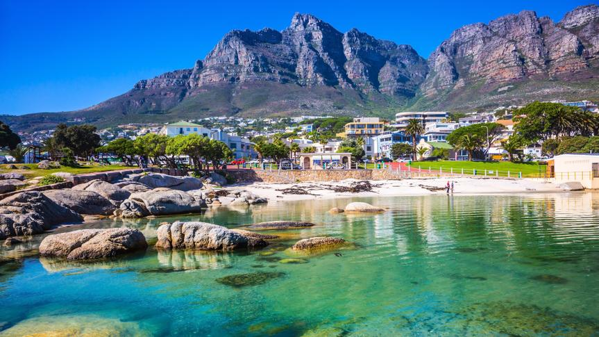 Panorama of Cape Town, South Africa.