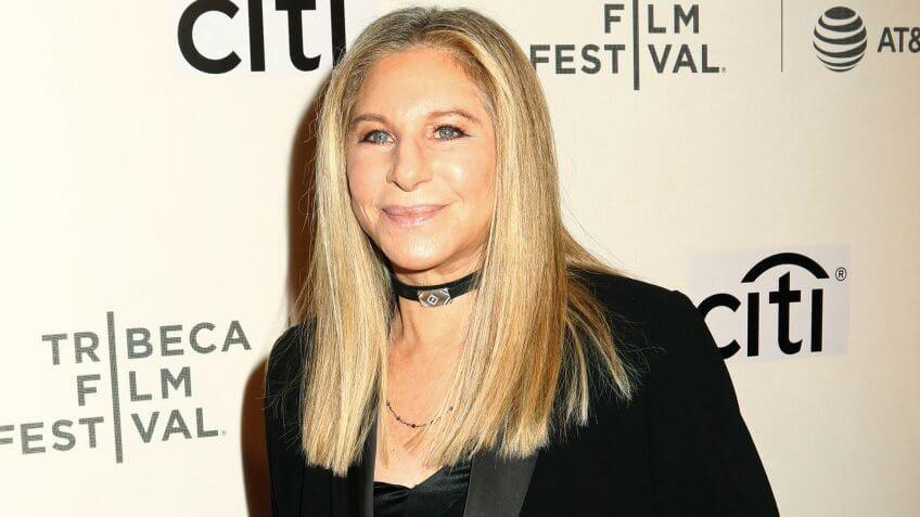 "NEW YORK - April 29, 2017: Barbra Streisand attends ""Tribeca Talks: Storytellers: Barbra Streisand with Robert Rodriguez"" during the Tribeca Film Festival on April 29, 2017, in New York City."