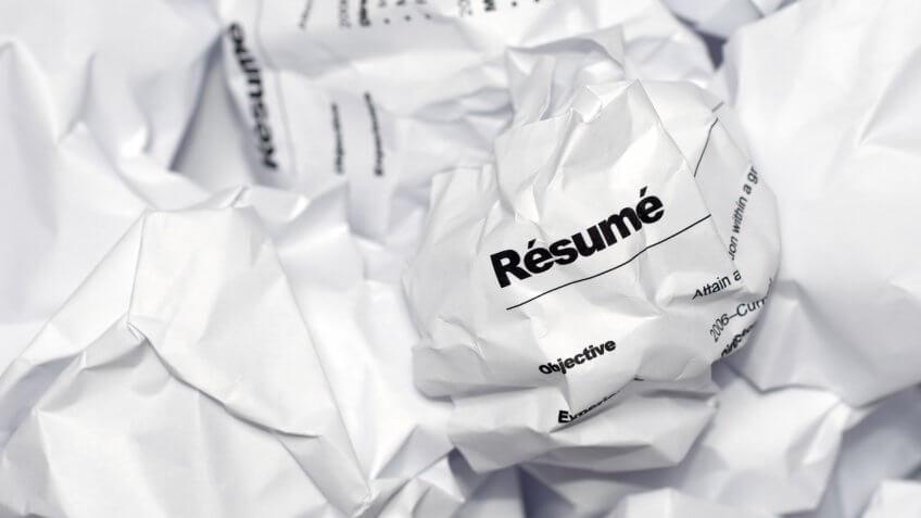 crumpled resume