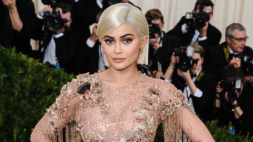 Kylie Jenner attends the 2017 Metropolitan Museum of Art Costume Institute Gala at the Metropolitan Museum of Art in New York, NY on May 1st, 2017.