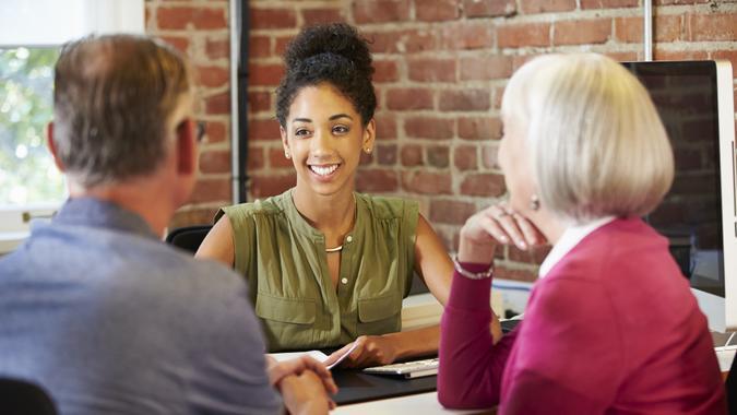 advisor meeting with couple