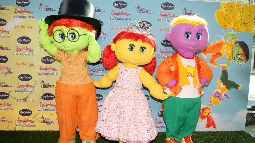 Mandatory Credit: Photo by Dave Allocca/StarPix/REX/Shutterstock (5633700r)Goobie, Zoozie and Toofie'The Oogieloves in the Big Balloon Adventure' film premiere, New York, America - 27 Aug 2012.