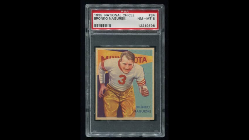 1935 National Chicle Bronko Nagurski Football Card