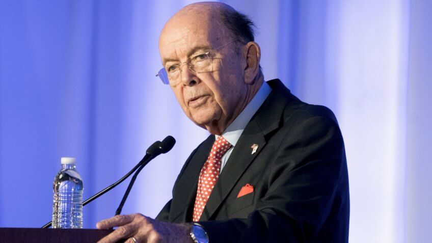 Mandatory Credit: Photo by MICHAEL REYNOLDS/EPA-EFE/REX/Shutterstock (9221438e)Wilbur RossUS Commerce Secretary Wilbur Ross, Washington, USA - 13 Nov 2017US Commerce Secretary Wilbur Ross delivers remarks at the US-Japan Council's annual conference in Washington, DC, USA, 13 November 2017.