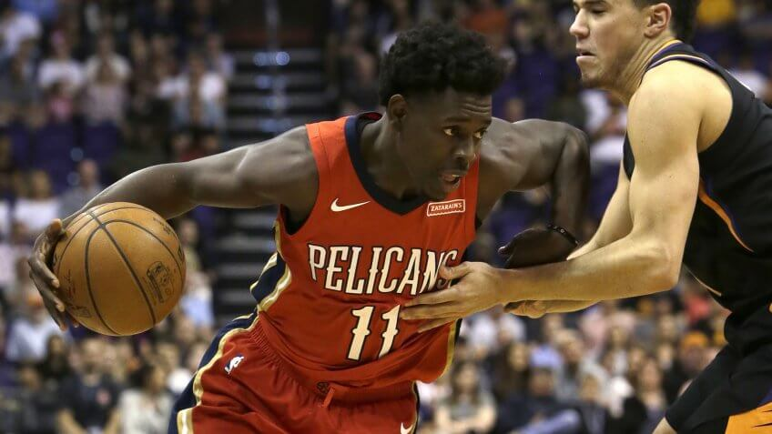 Mandatory Credit: Photo by AP/REX/Shutterstock (9239787ac)New Orleans Pelicans guard Jrue Holiday (11) against the Phoenix Suns in the first half during an NBA basketball game, in PhoenixPelicans Suns Basketball, Phoenix, USA - 24 Nov 2017.