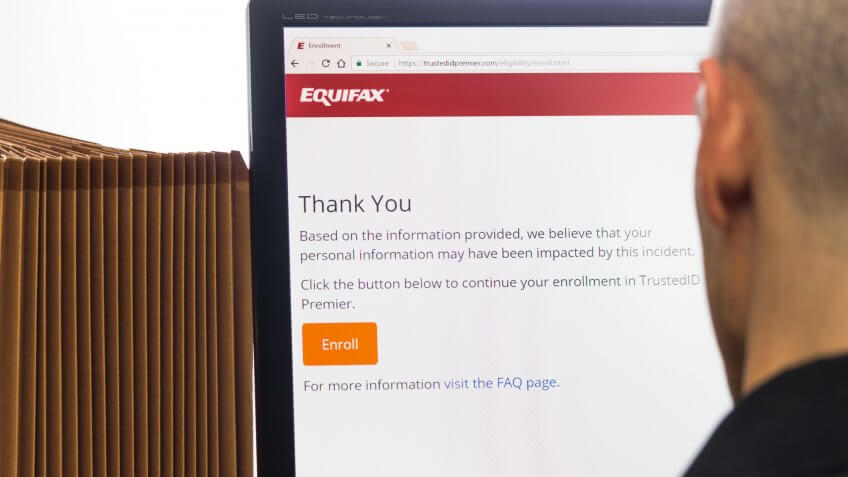 "Equifax Personal Information Impact Check 9-09-2017 Individual viewing results ""Based on the information provided, we believe that your personal information may have been impacted by this incident."