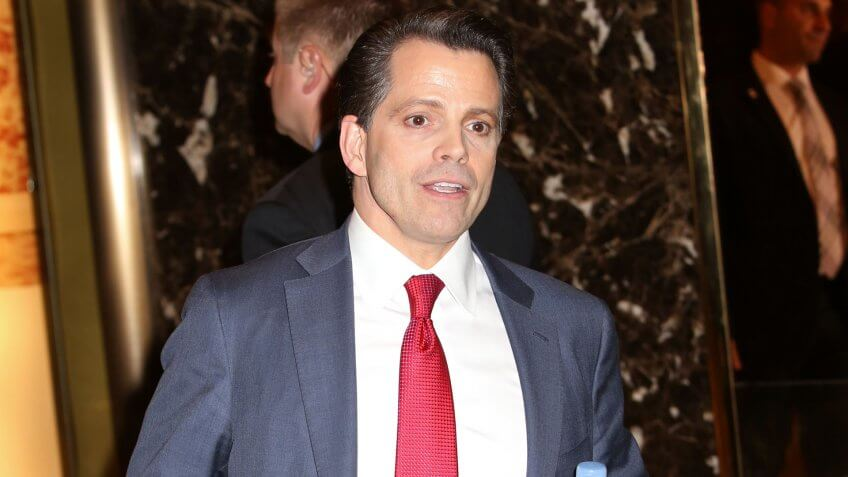 NEW YORK - DEC 14, 2016: Donald Trump advisor Anthony Scaramucci is seen in the lobby of Trump Tower on December 14, 2016, in New York.