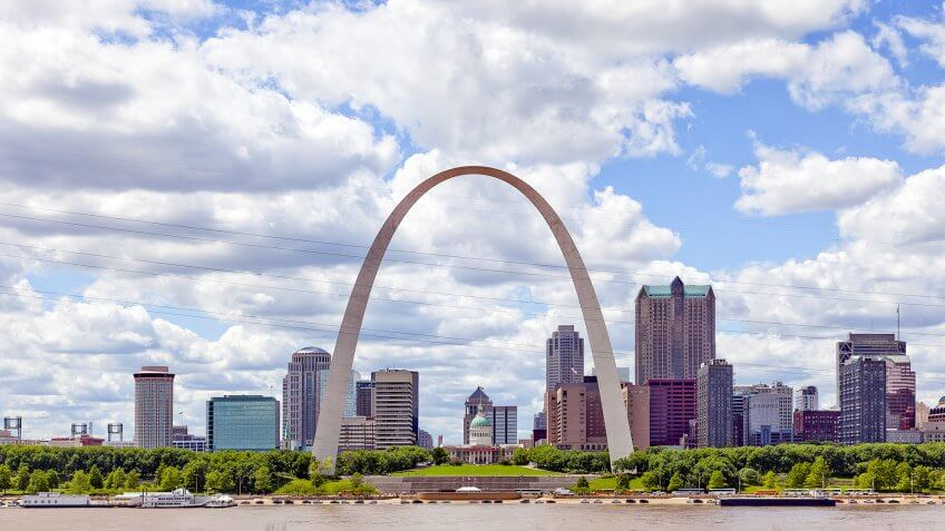 St. Louis Missouri with Gateway Arch during the daytime