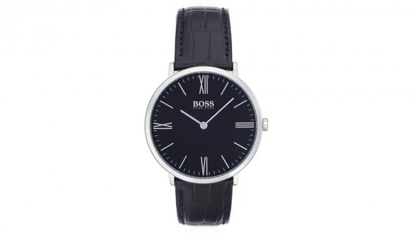 BOSS-Ultra-Slim-Leather-Strap-Watch
