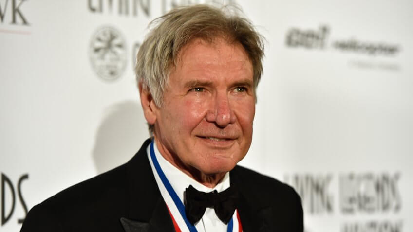 """BEVERLY HILLS, CA - JANUARY 16:  Actor Harrison Ford attends the 12th Annual """"Living Legends of Aviation""""  at The Beverly Hilton Hotel on January 16, 2015 in Beverly Hills, California."""