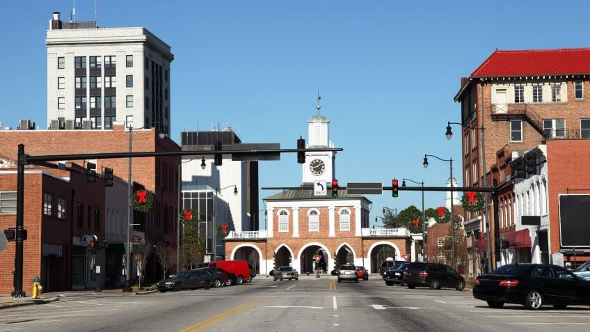 Downtown Fayetteville, North Carolina.