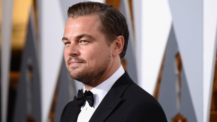 HOLLYWOOD, CA - FEBRUARY 28:  Actor Leonardo DiCaprio attends the 88th Annual Academy Awards at Hollywood & Highland Center on February 28, 2016 in Hollywood, California.