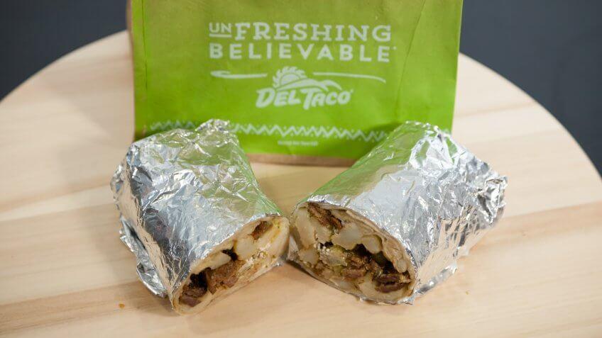 Del Taco, Fast Food, GOBankingRates.com, unique, weird