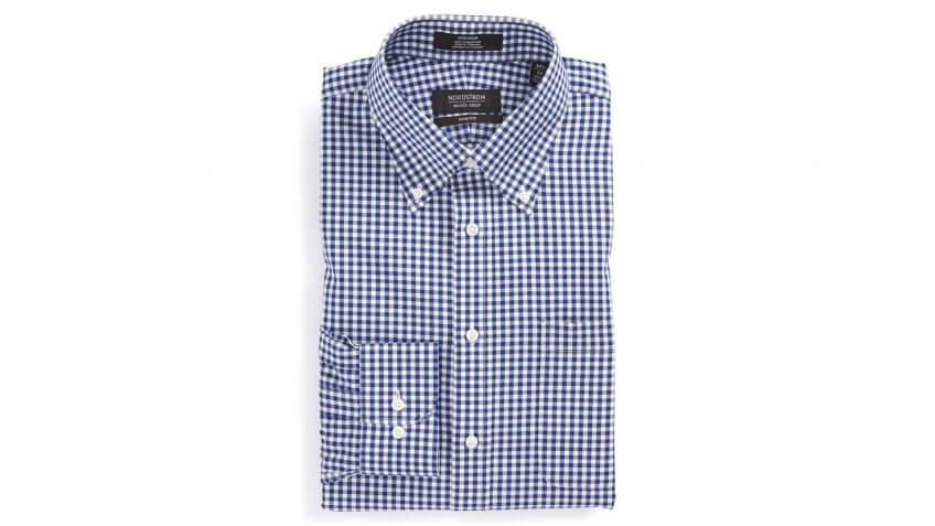 Nordstrom-Mens-Shop-Trim-Fit-Non-Iron-Gingham-Dress-Shir