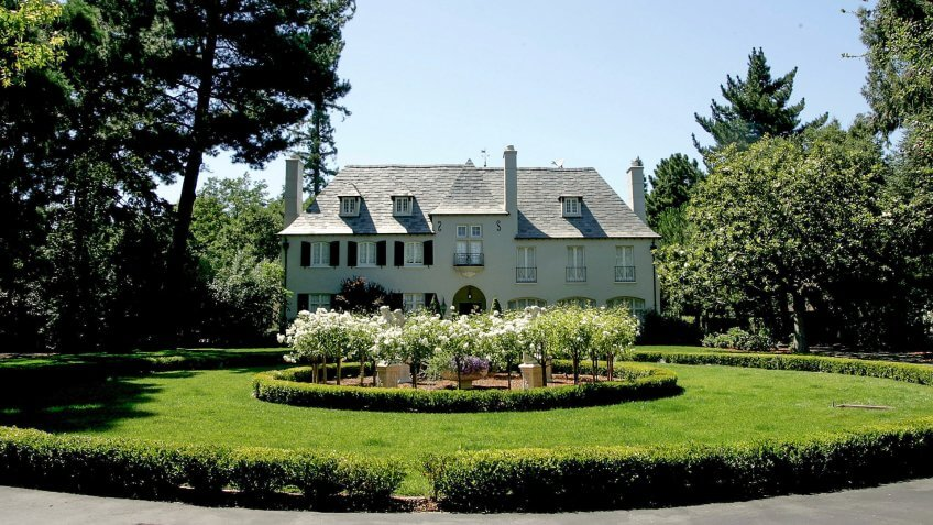 ATHERTON, CA - JULY 12:  A mansion style home is seen July 12, 2005 in Atherton, California.