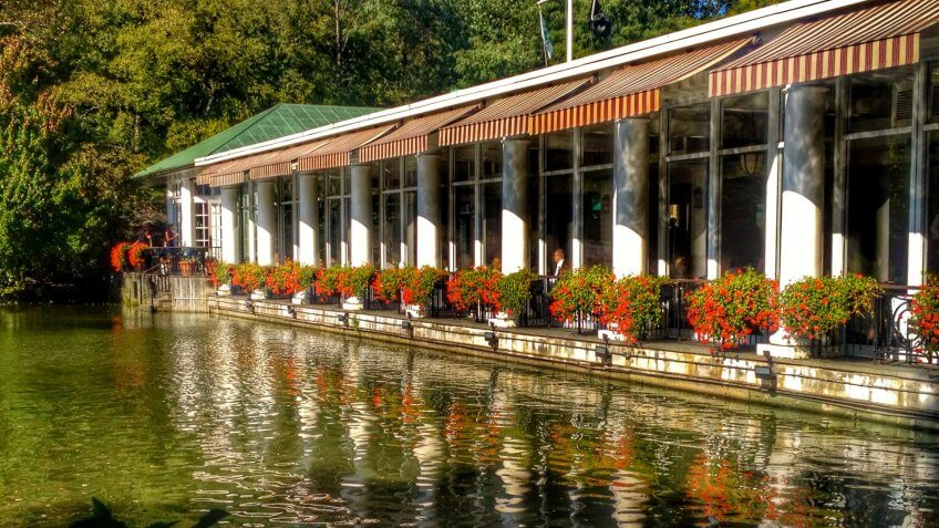 The Loeb Boathouse at Central Park.