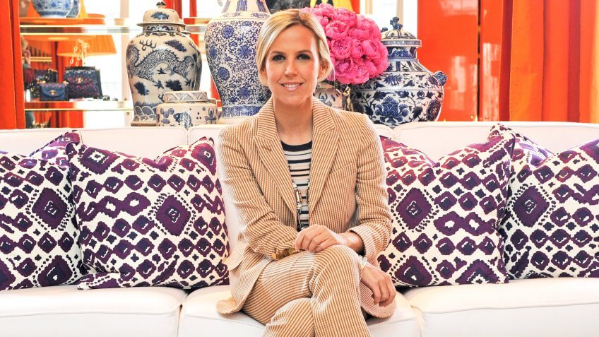 June 2016 - Tory Burch posing in her showroom in Milan during the fashion week.