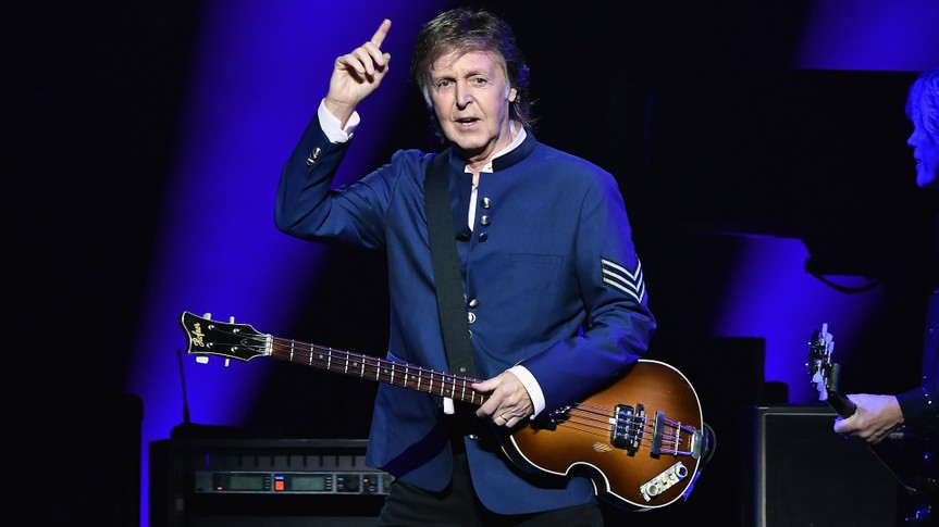 MIAMI, FL - JULY 07:  Paul McCartney performs in concert at American Airlines Arena on July 7, 2017 in Miami, Florida.
