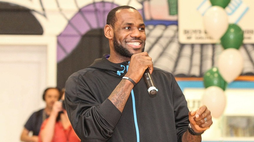 GRETNA, LA - FEBRUARY 15: LeBron James, Sprite and the LeBron James Family Foundation unveiled a legacy project, including a refurbished gymnasium, at the Boys and Girls Club of Southeast Louisiana-Westbank Unit on Saturday, February 15, 2014 in Gretna, Louisiana.