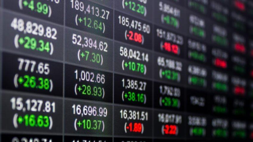 Stocks chart performance