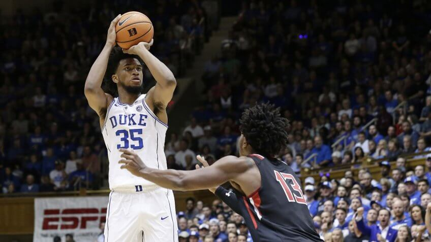 Mandatory Credit: Photo by Gerry Broome/AP/REX/Shutterstock (9264008y)Marvin Bagley III, Keith Braxton.