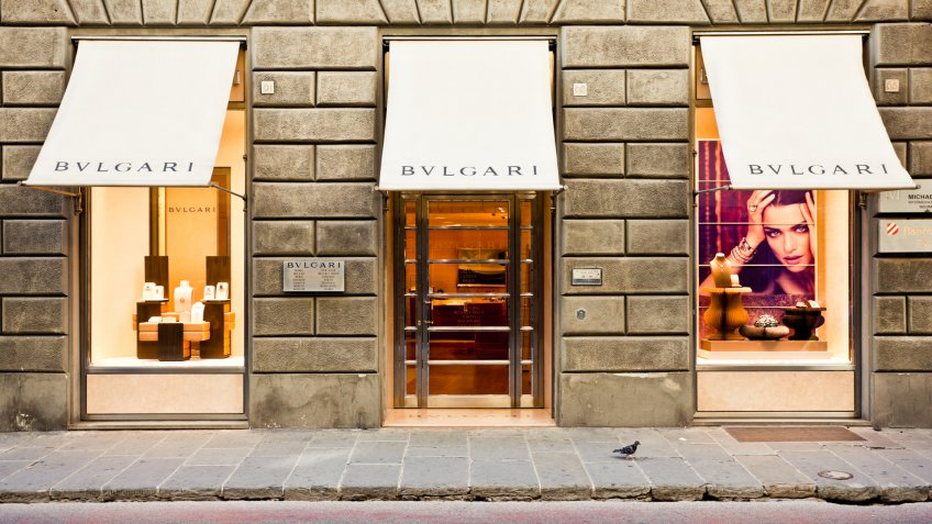 Florence, italy - October 11, 2011: Bulgari Store in Florence.