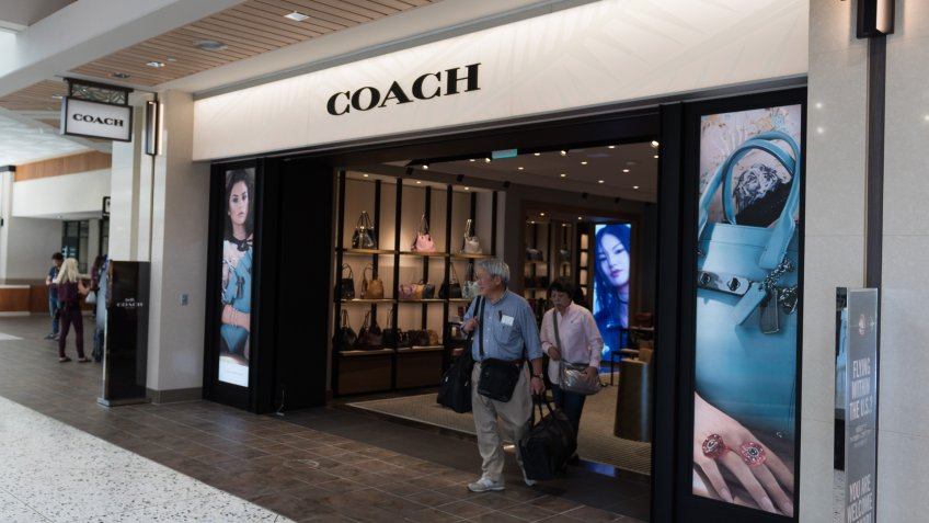 Honolulu, USA - Nov 12, 2017: The Coach store late in the day at the Daniel K.