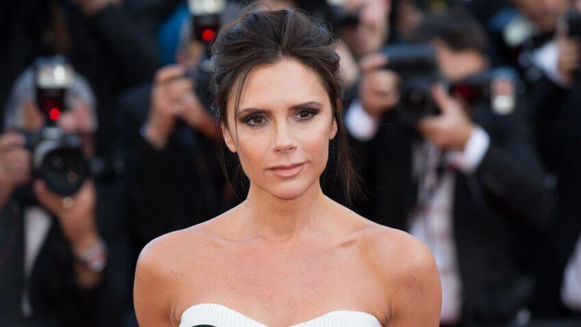 CANNES, FRANCE - MAY 11: Victoria Beckham attends the 'Cafe Society' premiere and the Opening Night Gala.