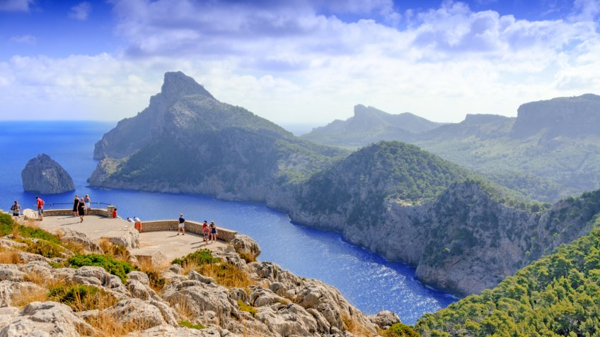 Mallorca, Spain landscape and view to Cape Formentor.