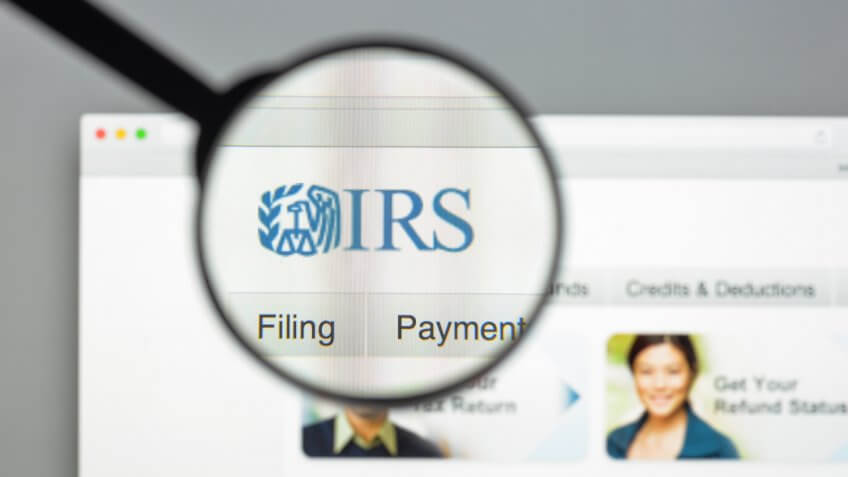 Milan, Italy - August 10, 2017: IRS website homepage.