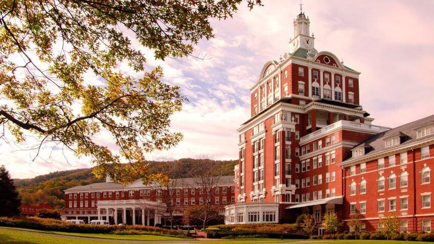 Omni Homestead Resort in Allegheny Springs.