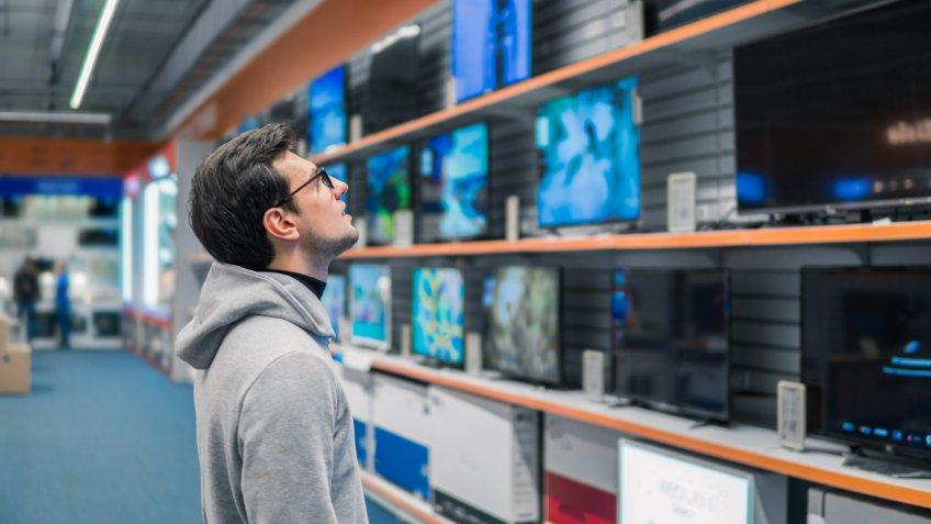 electronics store, shopping
