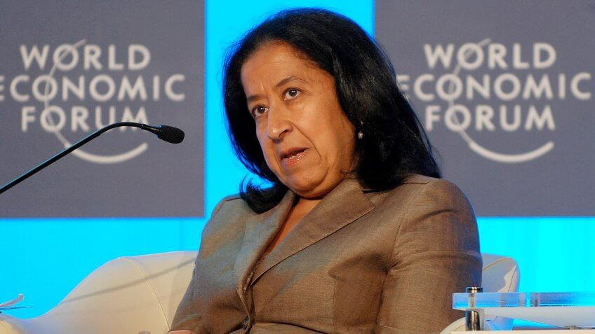 Co-chair of the World Economic Forum on the Middle East and North Africa Lubna S Olayan Deputy Chairperson and Chief Executive Officer of Olayan Financing Company Saudi Arabia and Global Agenda Council on Women's Empowerment is Seen at the World Economic Forum on the Middle East and North Africa Held in Marrakech Morocco 26 October 2010 the Wef on the Middle East and North Africa Takes Place in Marrakech From 26 to 28 October Under the Theme 'Purpose Resilience and Prosperity' It is Due to Gather the Most Pro-leaders From Business Government and Civil Society to Renew the Region's Growth and Development Strategies Morocco MarrakechMorocco World Economic Forum Middle East North Africa - Oct 2010.