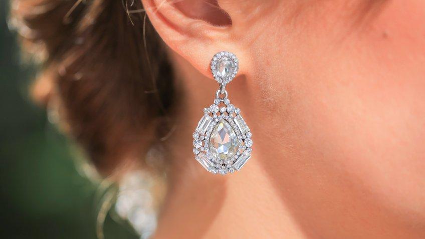diamond, earrings, jewelry
