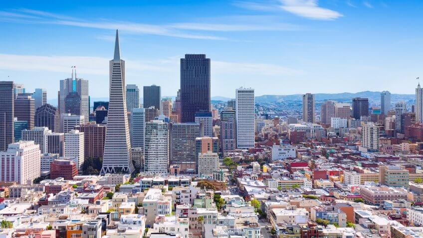 Cities, Horizontal, San Francisco - California, US, USA, United States, america