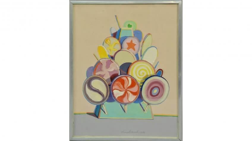 Lollipop Tree, Wayne Thiebaud, lollipops, painting