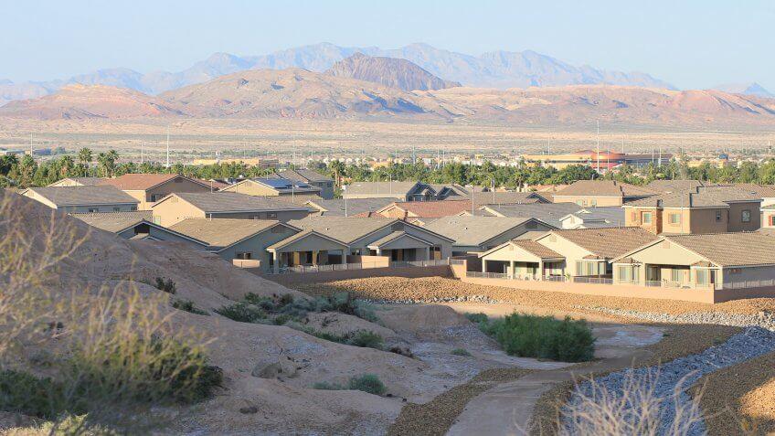 Houses in the Desert, Whitney Ranch, Henderson, Nevada.