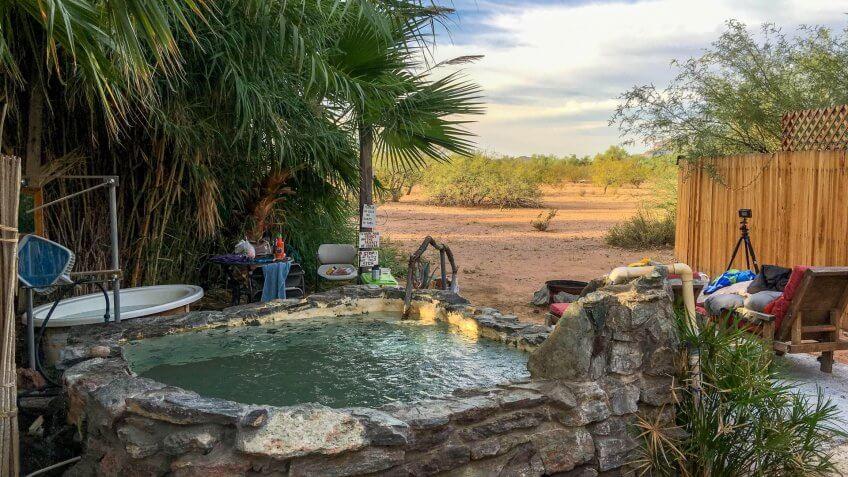 Desert View Pool at El Dorado Hot Springs, Tonopah, Arizona.