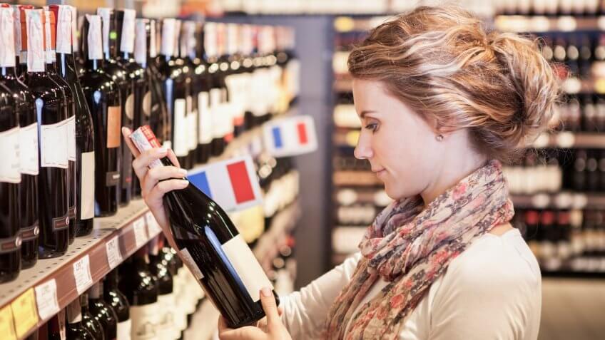 wine, wine aisle