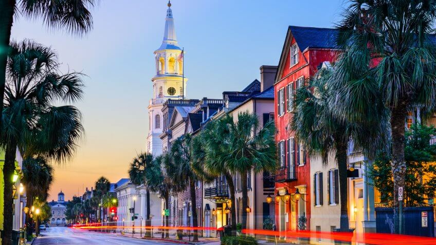Charleston, South Carolina at sunset