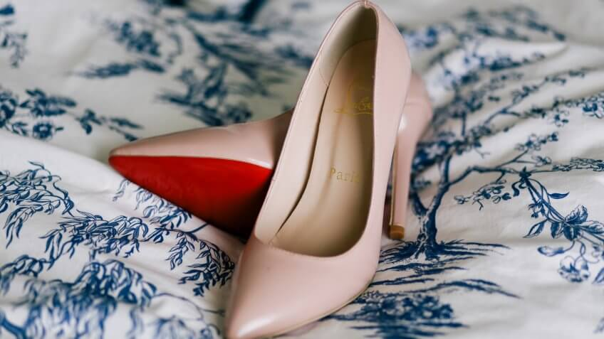 Luxury Christian Louboutin wedding shoes.