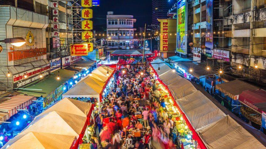 Night market in Thailand