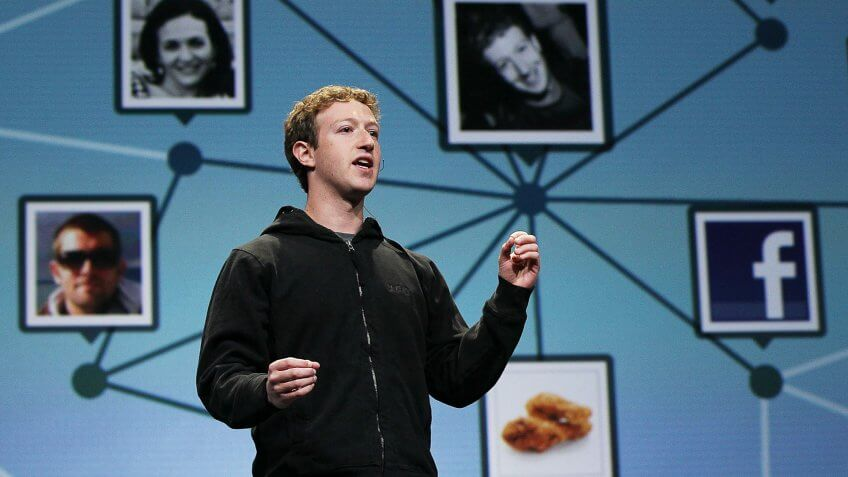 SAN FRANCISCO - APRIL 21:  Facebook founder and CEO Mark Zuckerberg delivers the opening keynote address at the f8 Developer Conference April 21, 2010 in San Francisco, California.