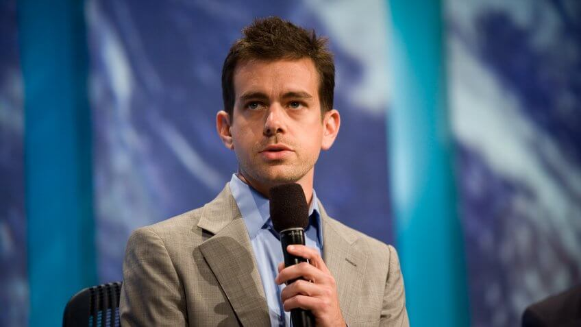 "NEW YORK, NY - SEPTEMBER 23:  Jack Dorsey, the Co-Founder and Chairman of Twitter, talks during a panel called ""Enhancing Access to Modern Technology"" during the annual Clinton Global Initiative (CGI) on September 23, 2010 in New York City."
