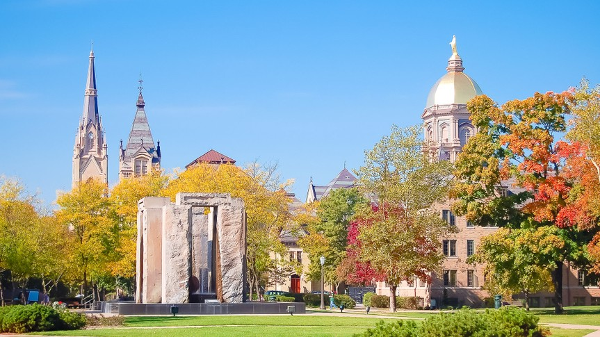 University of Notre Dame in Indiana