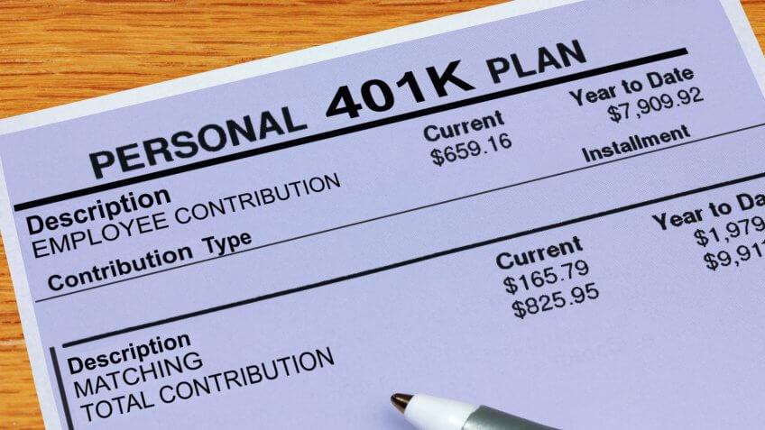 A statement showing 401K plan financials.