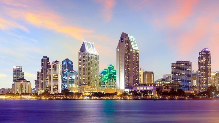Cities, Horizontal, San Diego California, US, USA, United States, america