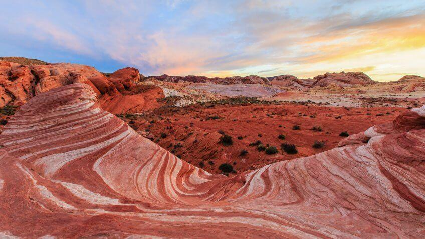 The Fire Wave Valley of Fire State Park Nevada.