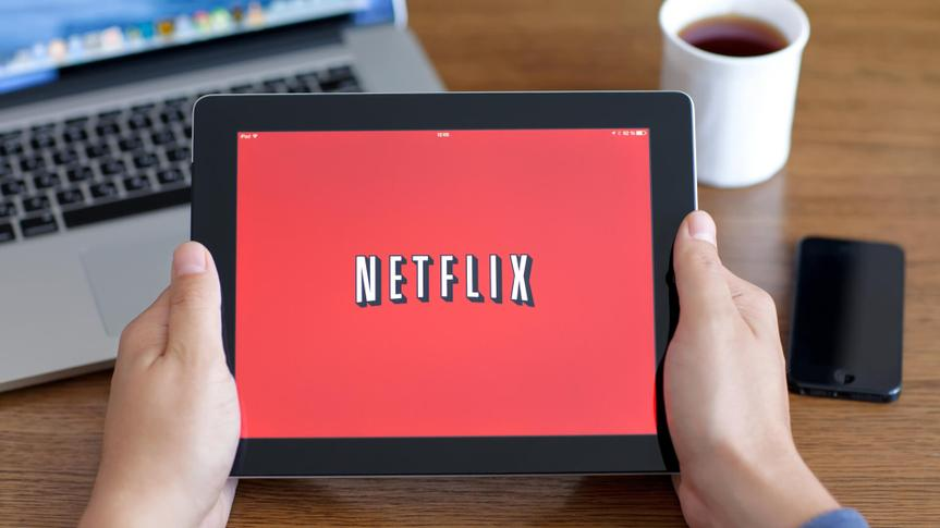 Simferopol, Russia - June 22, 2014: Netflix American company, a provider of films and TV series based on streaming media.