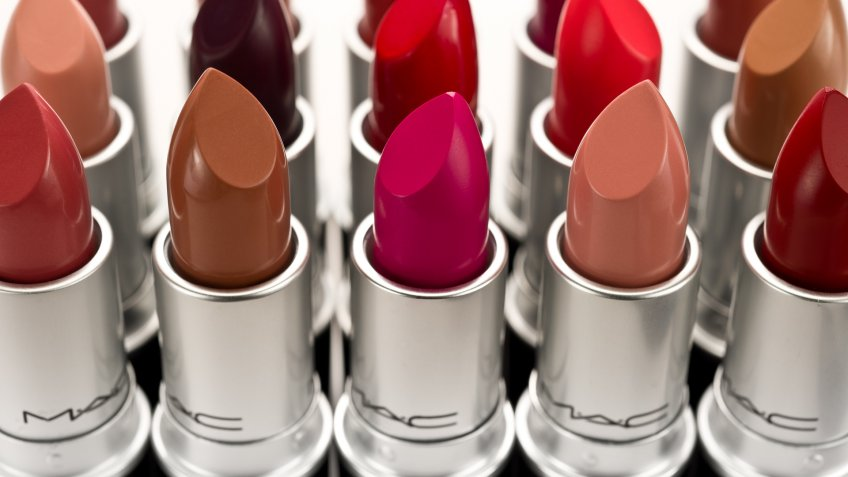 """Yellowknife, Canada - February 16, 2012: MAC lipsticks in various colours."